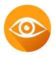 eye sign icon publish content button stock vector image
