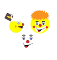Face of a clown vector image vector image