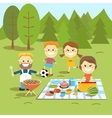 Family weekend Happy family picnic vector image