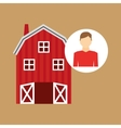 farm countryside farmer people design vector image vector image