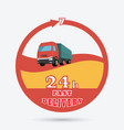 fast delivery icon vector image vector image