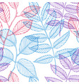 floral pattern decorative leaves seamless vector image vector image