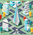 futuristic architecture isometric background vector image vector image