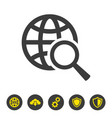 global search icon on white background vector image vector image