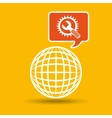 global web network tool support icon vector image