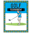 Golf Flyer Hand Drawn vector image