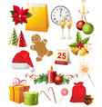 great christmas elements set vector image vector image