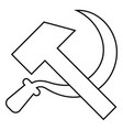 hammer and sickle icon black color flat style vector image vector image