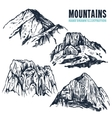 Hand Drawn Mountains Contours vector image