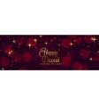 Happy diwali shiny sparkles festival banner design