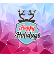 Happy Holiday and Merry Christmas Seasonal vector image vector image