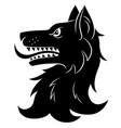 heraldic wolf head vector image vector image
