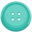 isolated blue button on white background vector image