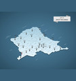 isometric 3d dr congo map concept vector image vector image