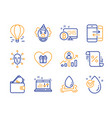 loan percent wallet and sound check icons set vector image vector image