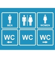 male and female wc icon denoting toilet restroom vector image vector image