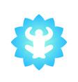 meditation yoga logo element on white vector image vector image