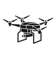 military drone icon simple style vector image vector image
