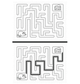 Mouse maze vector image