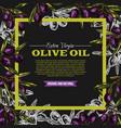 olive oil extra vrigin sketch poster vector image vector image