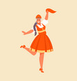 russian dance girl vector image vector image