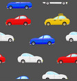 seamless pattern with cars different color vector image
