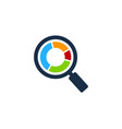 search stock market business logo icon design vector image