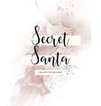 secret santa abstract greeting card christmas vector image vector image