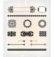 set abstract antique flourish pattern vector image