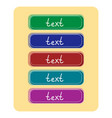 set of graphic buttons for web design vector image
