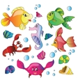 set of images of the marine life vector image vector image
