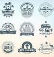 Set of Retro Summer Holidays Vintage Labels or vector image vector image