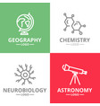set of science and research logo vector image