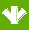 sewerage icon green vector image vector image