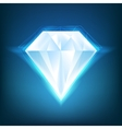 Shiny diamond background vector image