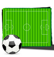 soccer with playground vector image vector image