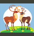 spring deer vector image vector image