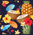 summer seamless cocktail background vector image vector image