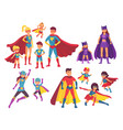 superhero family characters superheroes character vector image vector image