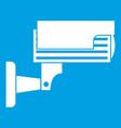 surveillance camera icon white vector image vector image