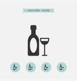 wine icon simple vector image