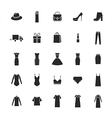 icons set of ladieswear and accessories vector image