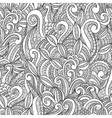 Seamless black and white hand-drawn seamless vector image