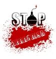 Bomb Icon Stop Terrorism Banner vector image