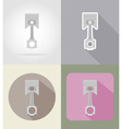 car equipment flat icons 03 vector image