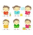 Six little girls vector image