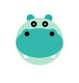 hippopotamus cartoon animal head vector image