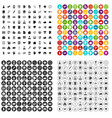 100 business strategy icons set variant vector image vector image