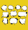 a collection of comic style speech bubbles vector image vector image