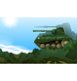 A fighting tank vector image vector image